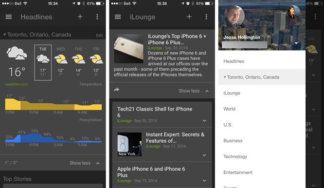 Google releases News & Weather for iOS