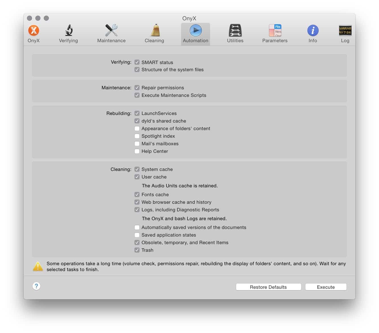Titanium Software OnyX 2.9