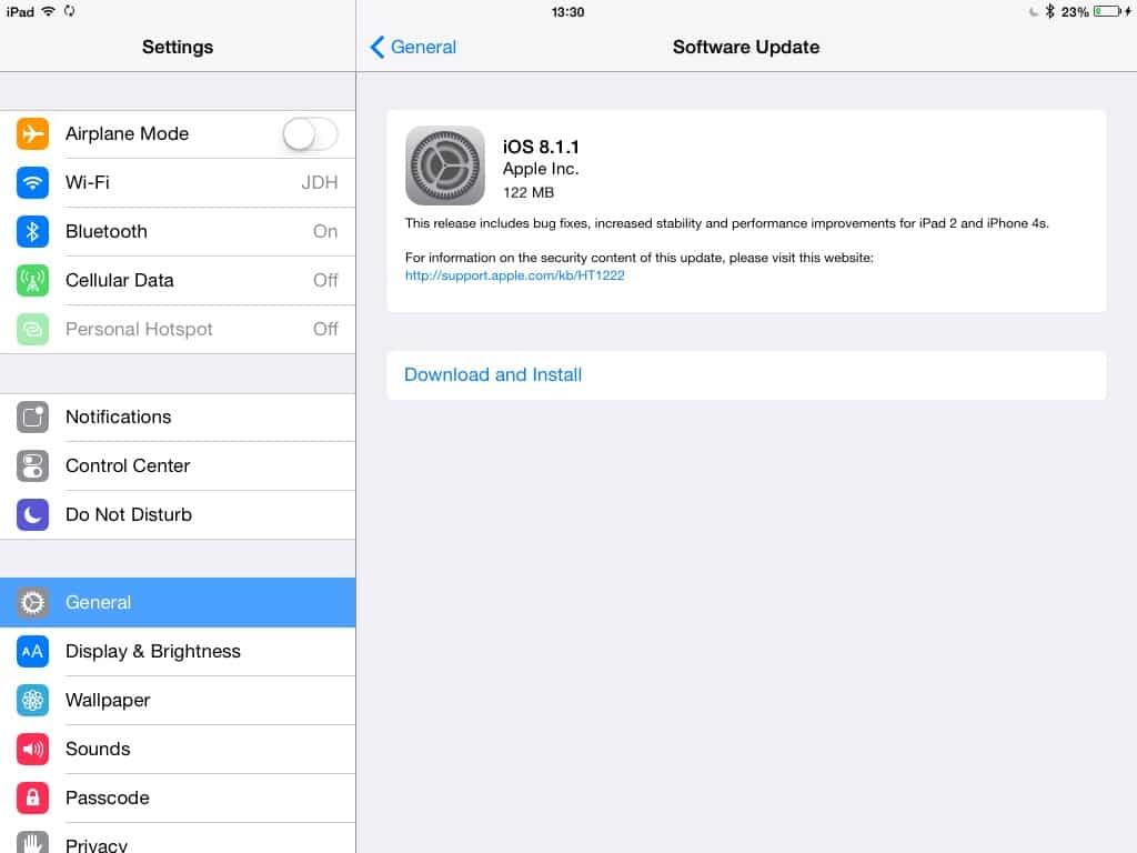 Apple releases iOS 8.1.1