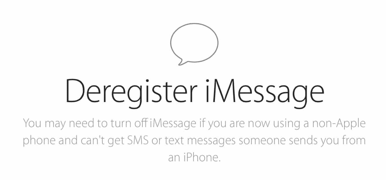 Apple releases iMessage Deregistration Tool