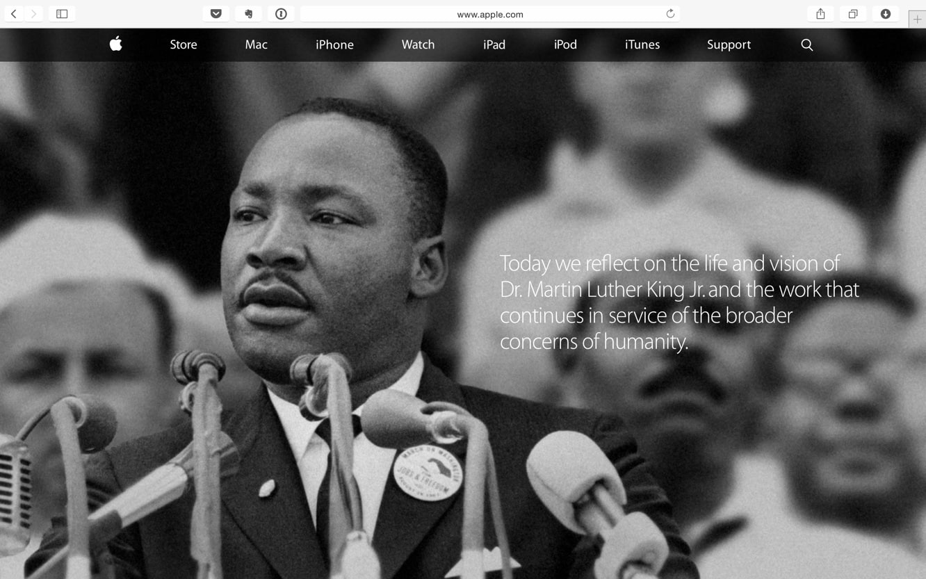 Apple commemorates Martin Luther King Jr. Day