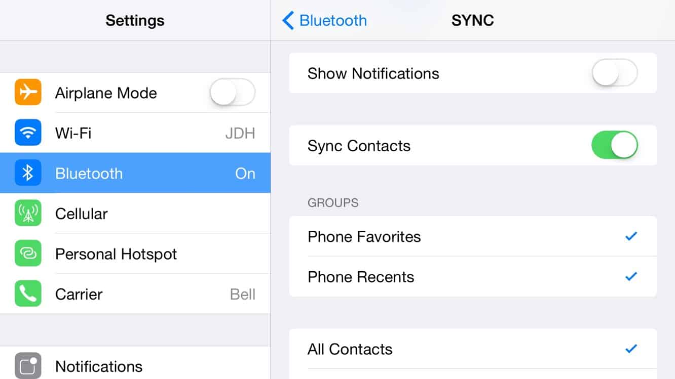 How do I re-sync contacts to my vehicle after switching to a new iPhone?