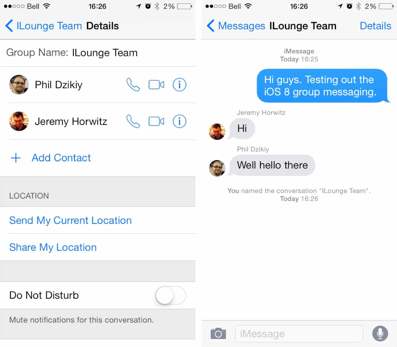 Muting Conversations in Messages