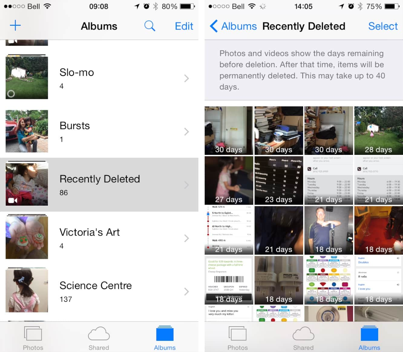 Restoring Deleted Photos and Videos in iOS 8