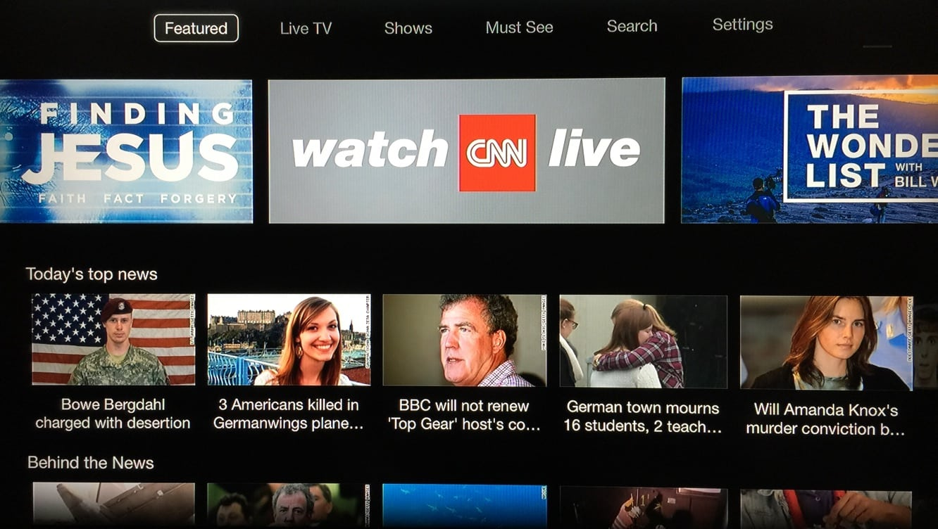 Apple adds CNNgo channel to Apple TV