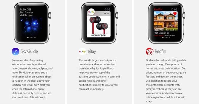 Apple reveals more Apple Watch apps on website
