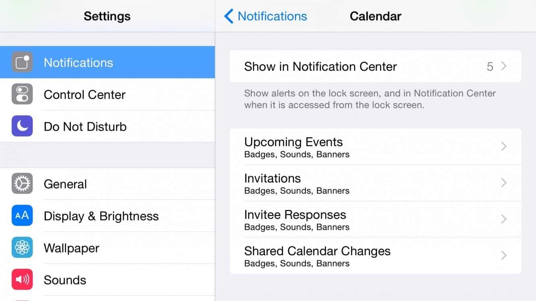 Setting Different Calendar Alert Types in iOS 8