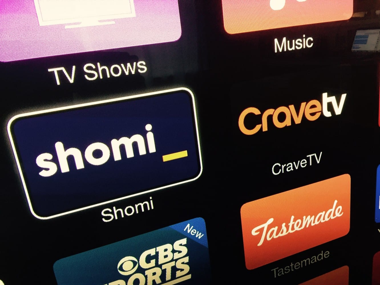 Apple TV adds Shomi, CraveTV channels in Canada