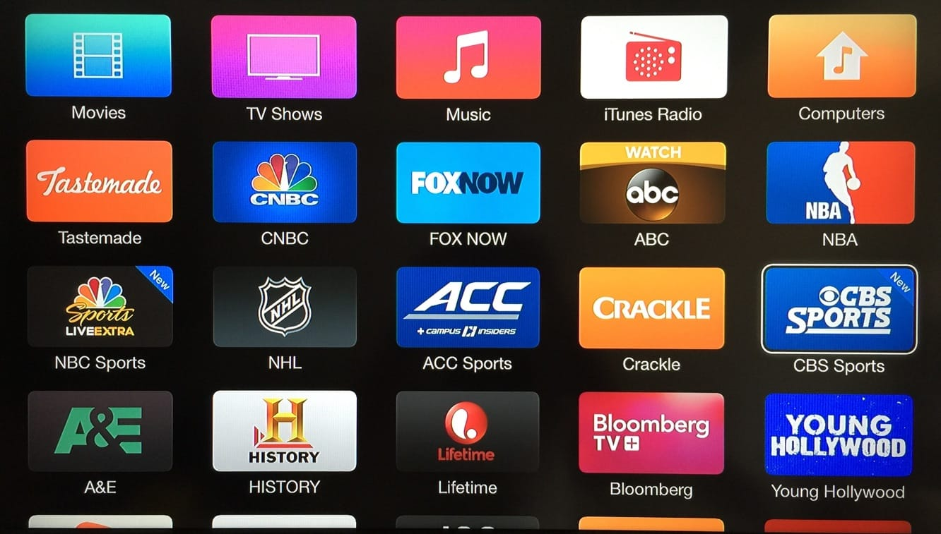 Apple TV adds CBS Sports, USA Now channels