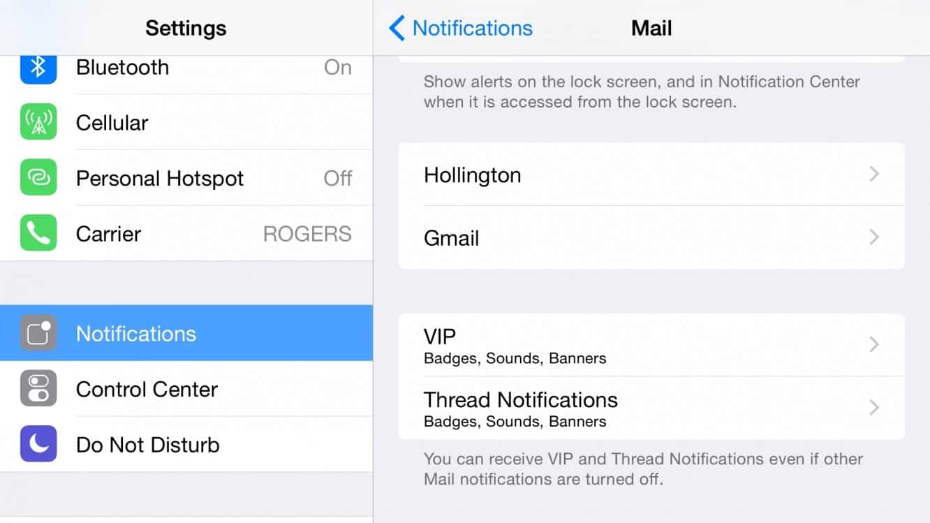 Showing badge count for only important messages in iOS Mail