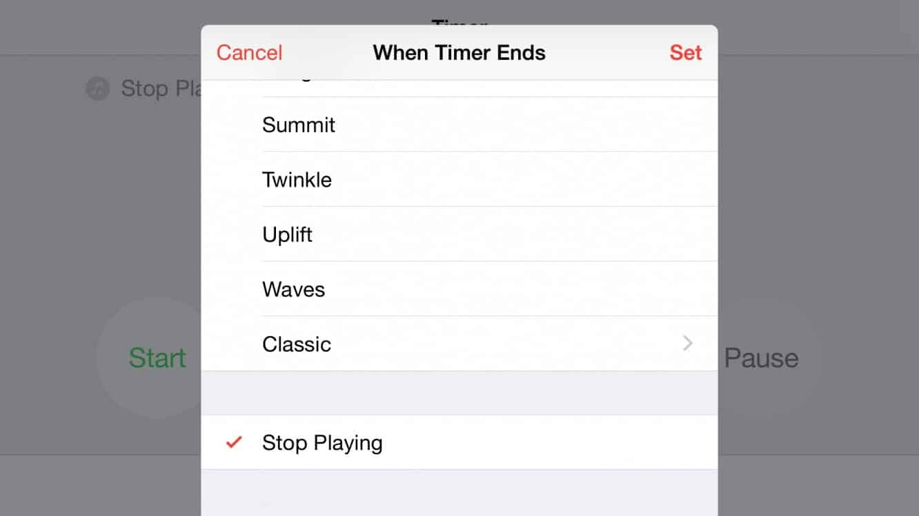 Setting a Sleep Timer on the iPhone