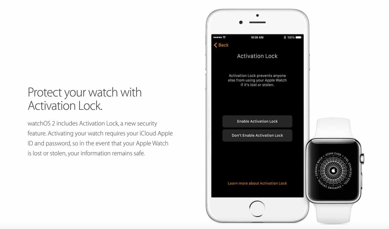 watchOS 2 to add Activation Lock