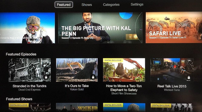 Apple TV adds NatGeo TV channel
