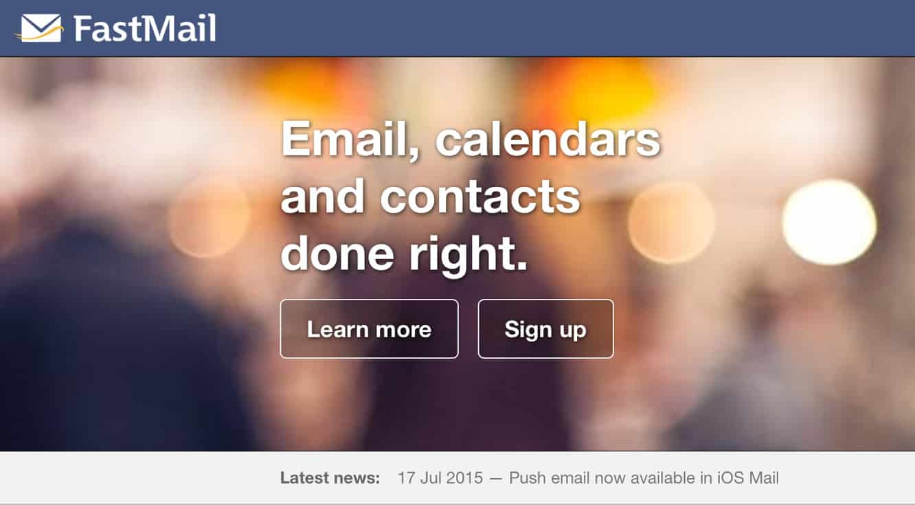 FastMail adds full support for push e-mail in iOS Mail