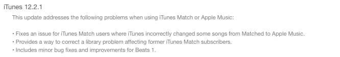 Apple releases iTunes 12.2.1 with iTunes Match, Apple Music fixes