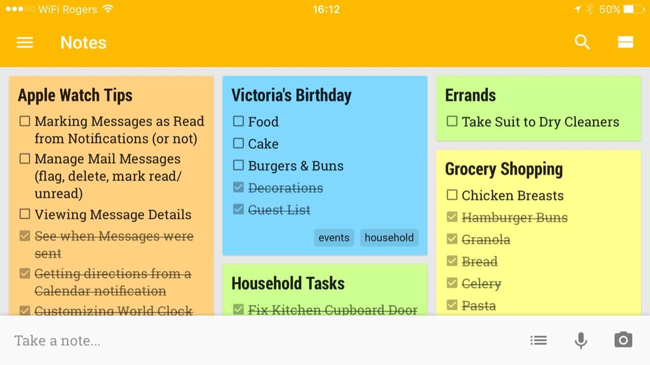 Google launches Google Keep for iOS