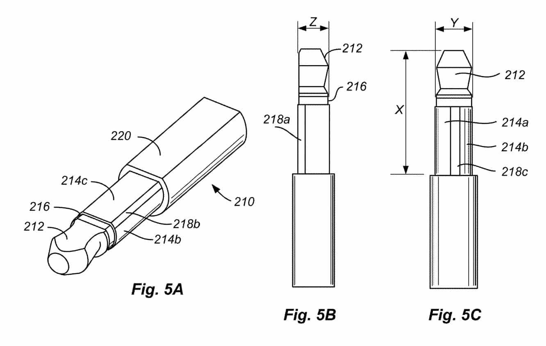 Apple patents thinner headphone plug