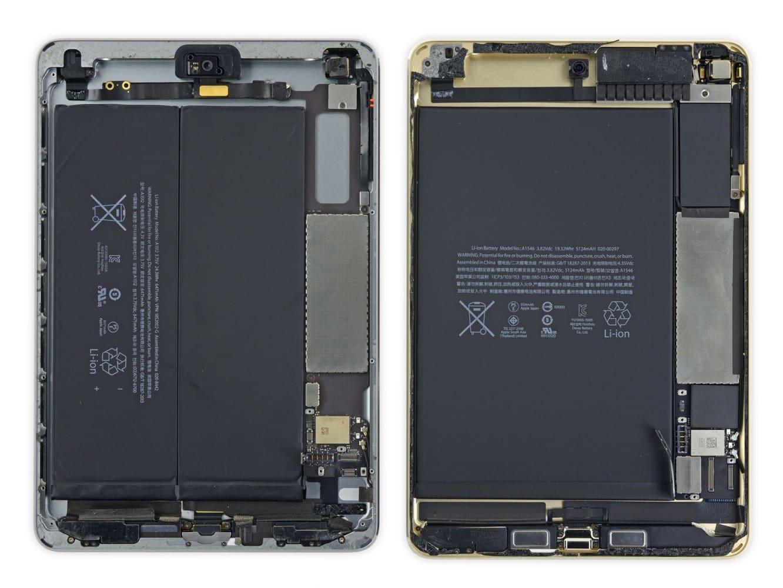 iFixit's iPad mini 4 teardown reveals smaller battery