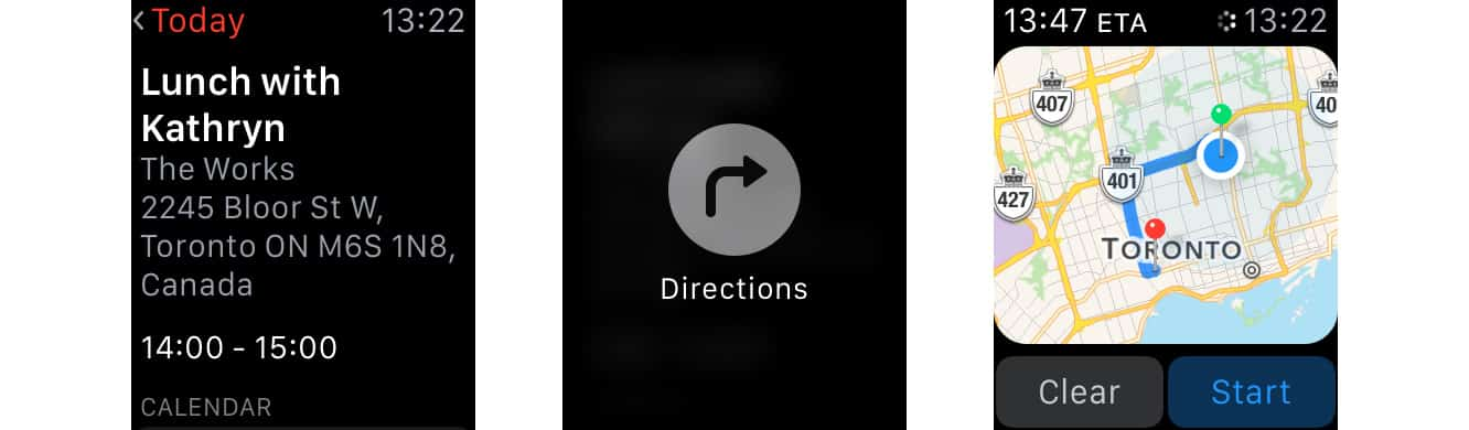 Getting Directions from a Calendar Notification on the Apple Watch