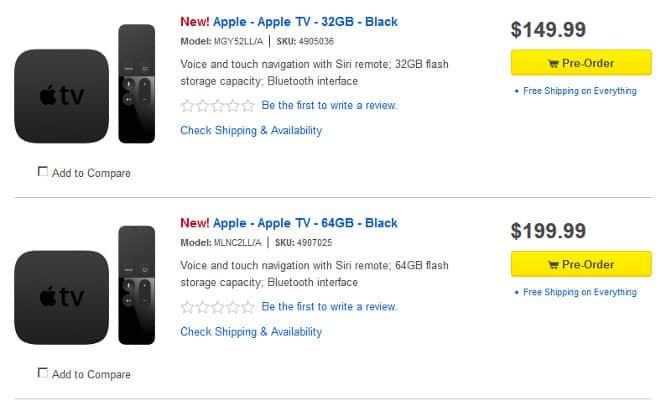 Best Buy taking preorders for new Apple TV