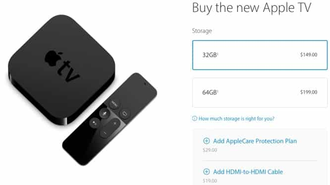 New Apple TV now available from Apple's online store