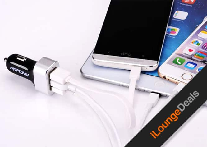 Daily Deal: Last chance to get the Mpow 3-Port Intelligent Car Charger