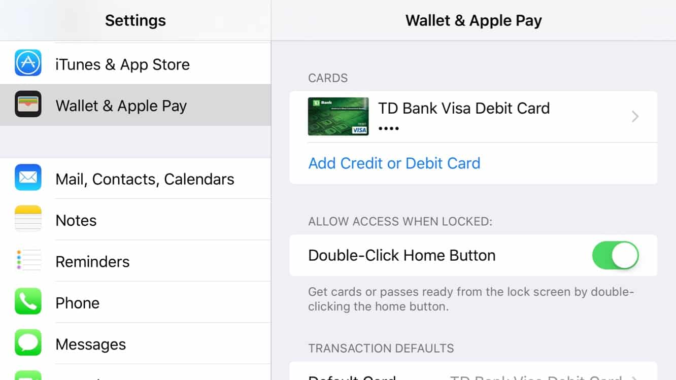 Bringing up Wallet from the iPhone lock screen