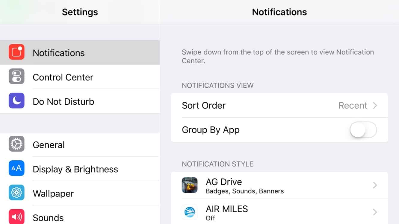 Sorting iOS Notifications Chronologically