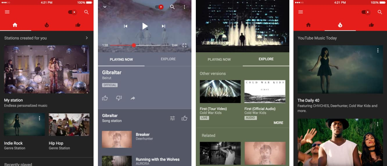 Google releases YouTube Music app for iOS