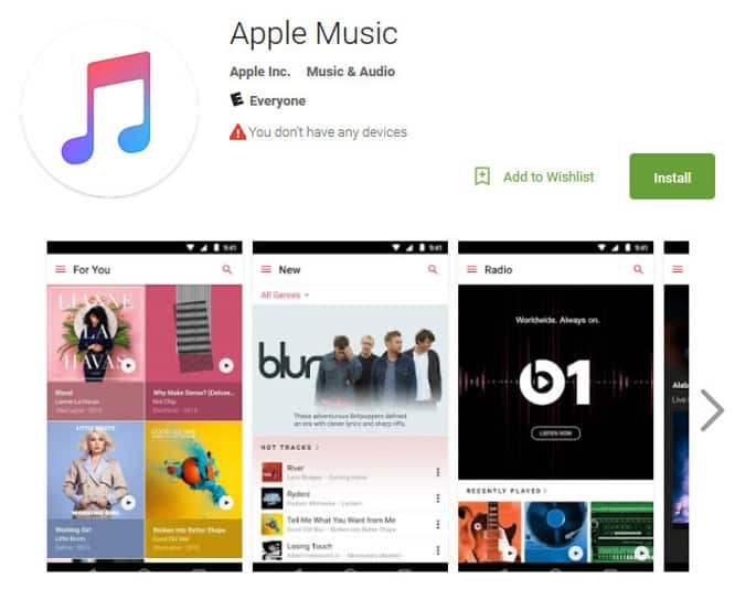 Apple Music beta app available for Android in Google Play Store