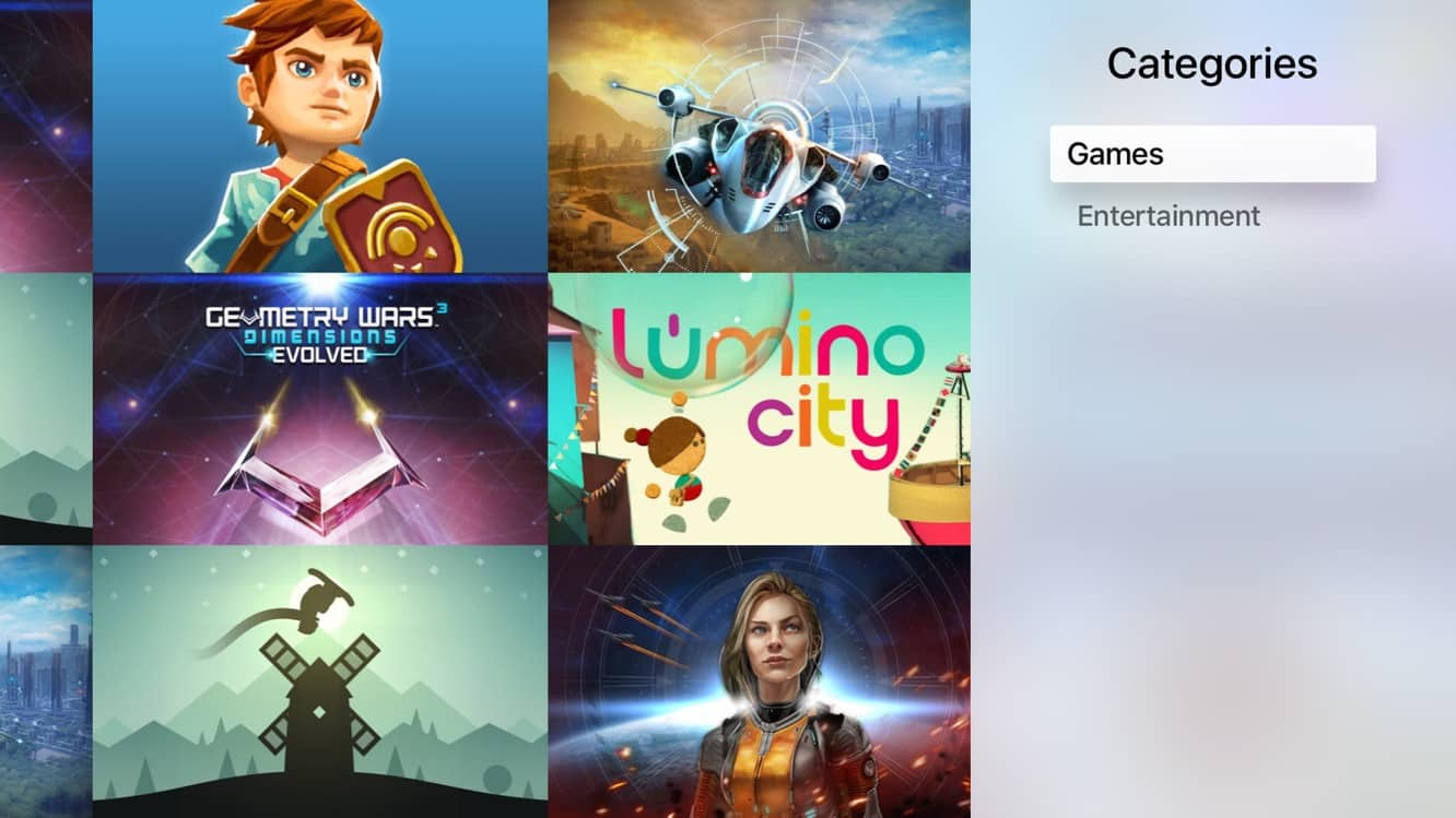 Apple adds Categories to Apple TV App Store, code for folders found in tvOS