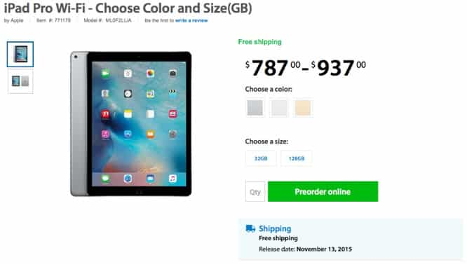 iPad Pro launch date Nov. 13?
