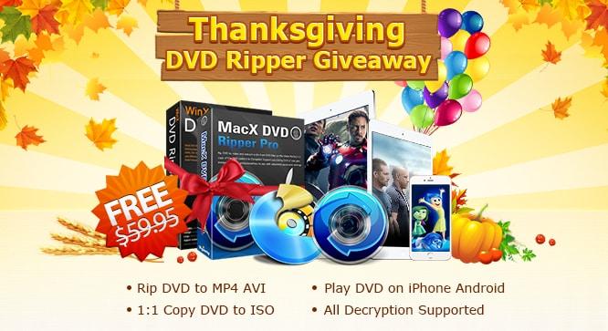 MacX DVD Ripper Pro & WinX DVD Ripper Platinum Giveaway
