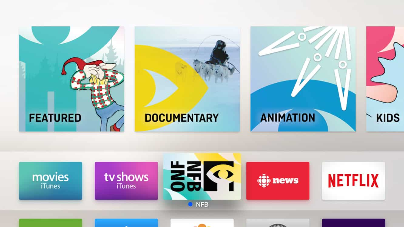 Placing apps in the top row on the Apple TV