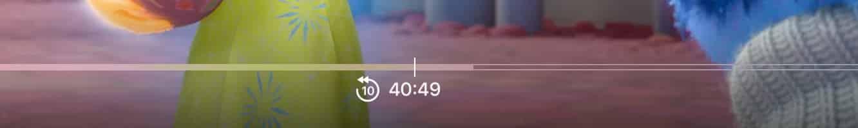 Skipping backward and forward on the Apple TV