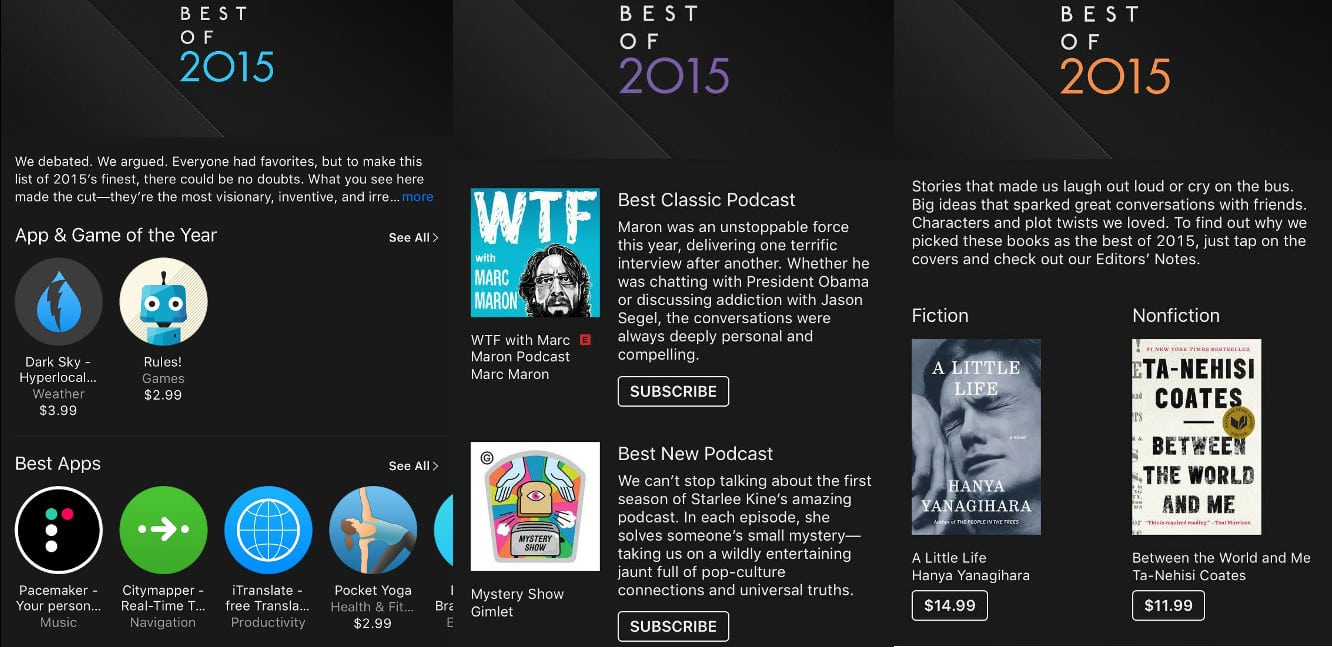 More Apple picks for Best of 2015: Apple Watch apps, Books, Podcasts