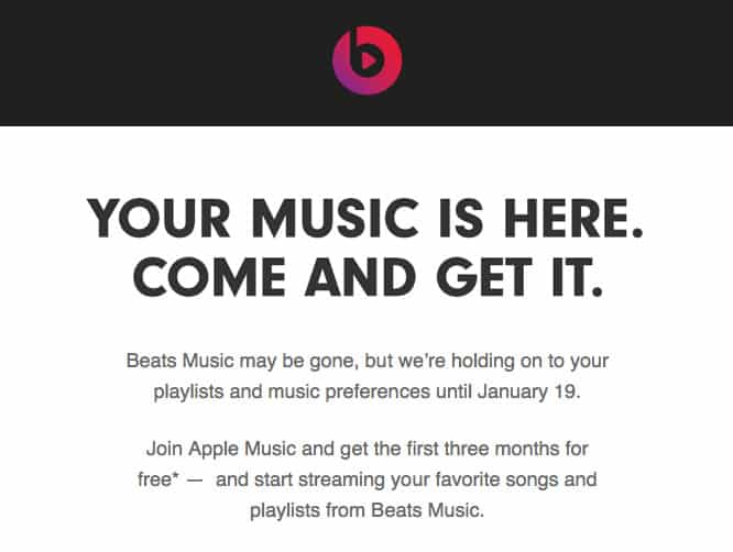 Beats subscribers get one-month grace period to migrate to Apple Music