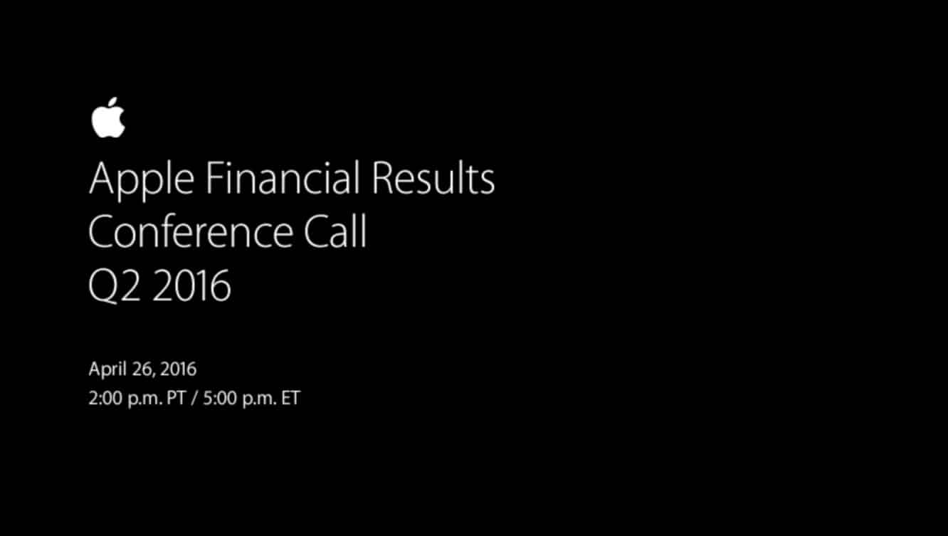 Notes from Apple's Q2 2016 earnings call
