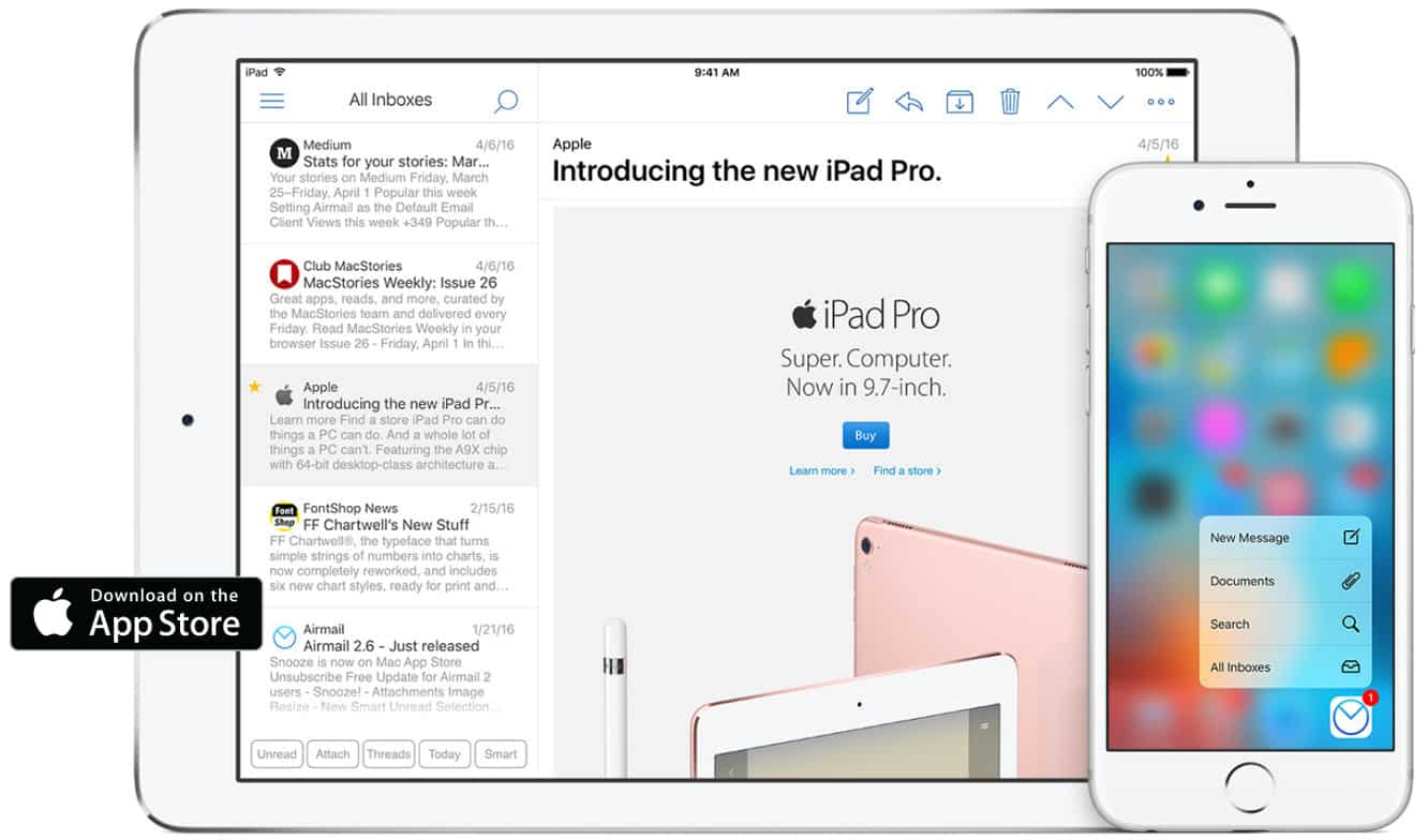 Airmail comes to iPad with Split View and Slide Over support