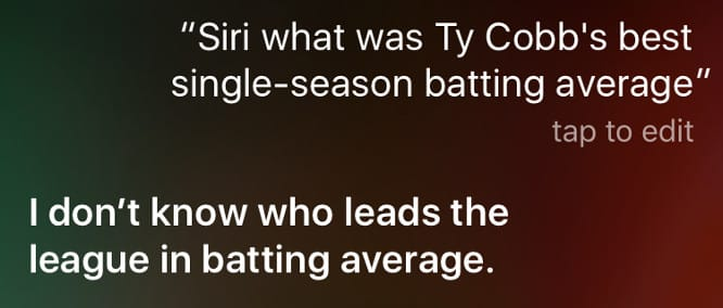 Siri improves MLB knowledge, but results are hit-or-miss