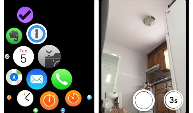 Using the iPhone as a remote camera with Apple Watch