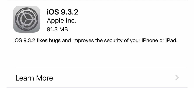 Apple releases iOS 9.3.2, watchOS 2.2.1, tvOS 9.2.1, iTunes 12.4