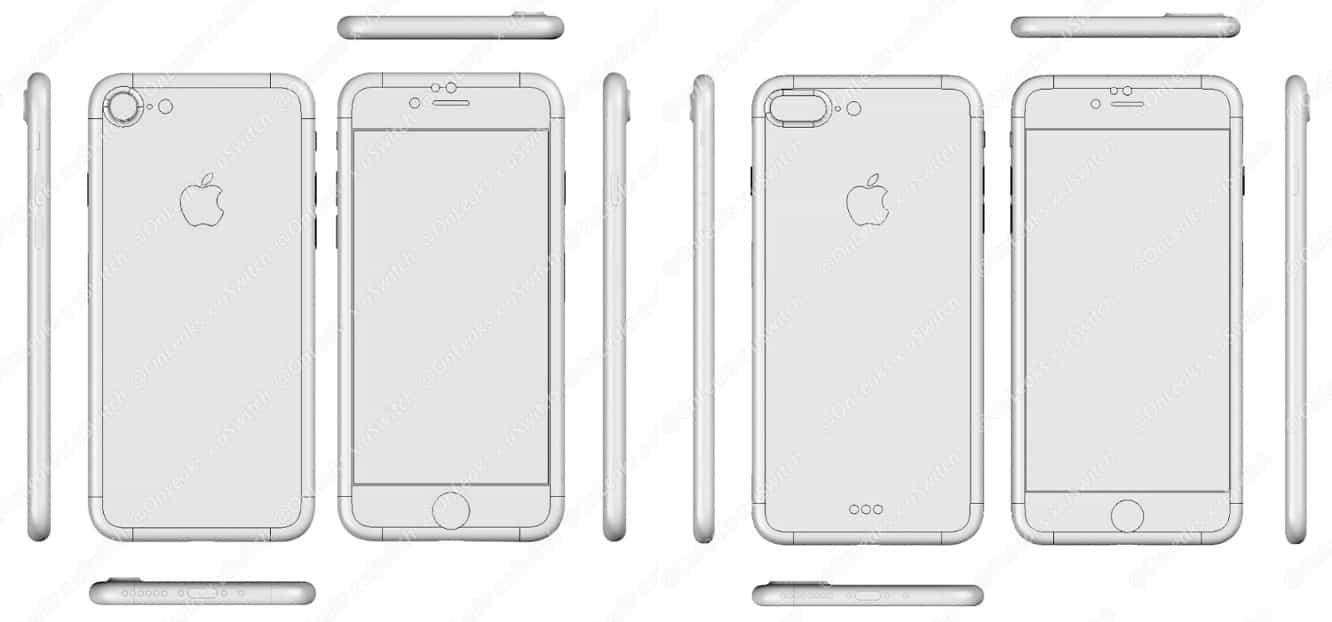 Leaked 'iPhone 7 Plus' renderings show larger camera cutout and Smart Connector, lack headphone jack