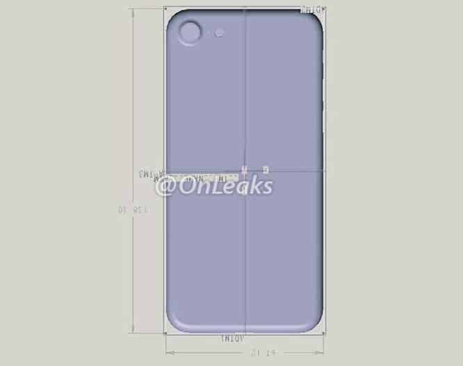 Alleged design rendering shows iPhone 7 height, width same as 6s