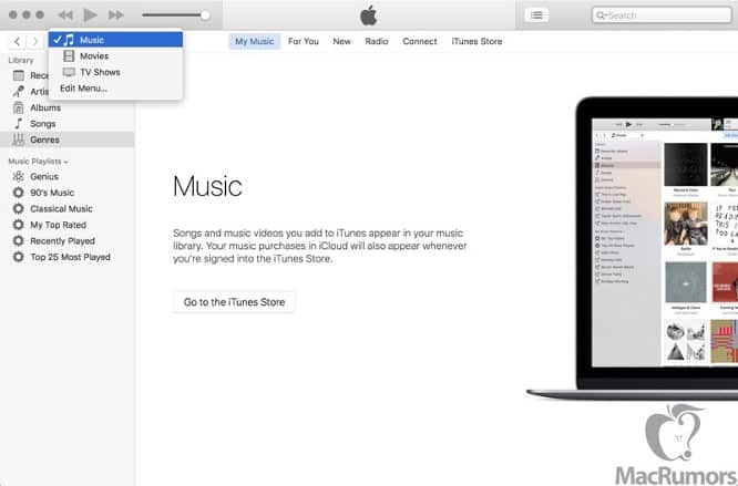 Leaked screenshots show minor updates coming to iTunes 12.4