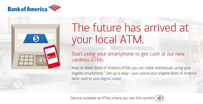 Bank of America rolling out ATM support for Apple Pay