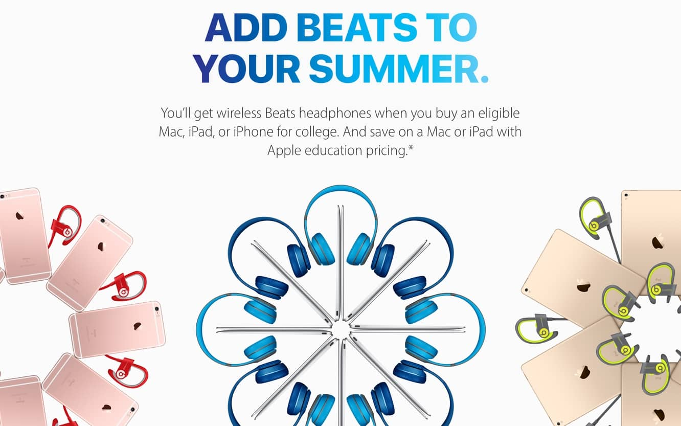 Apple launches 2016 Back to School promotion with Beats headphones