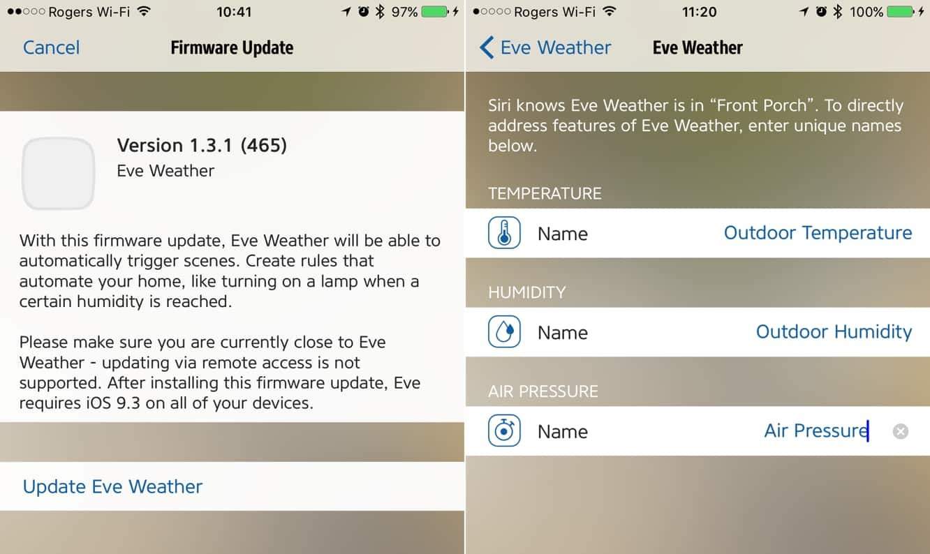 Elgato updates Eve firmware with support for HomeKit triggers