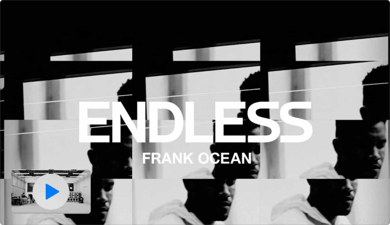 Frank Ocean releases new visual album 'Endless' on Apple Music