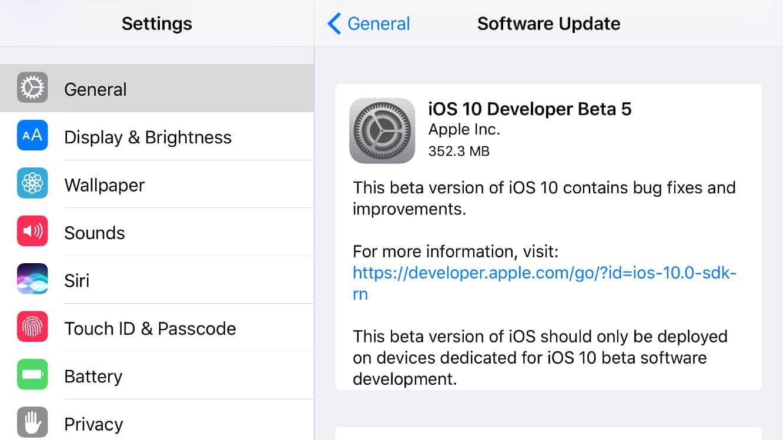 Apple releases fifth developer betas for iOS 10, tvOS 10 + watchOS 3